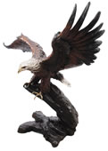 Bronze Eagle Sculpture, Wings Up
