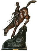 Mountain Man Bronze Western Statue