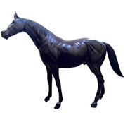 Bronze Standing Horse Sculpture, Large