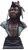Bronze Indian Chief Bust
