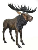 Bronze Standing Moose Sculpture
