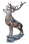 Bronze Stag on Rock Sculpture, Extra Large