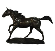 Bronze Horse Sculpture, Right Leg Up