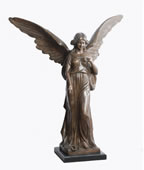 Standing Angel with Wings- Bronze