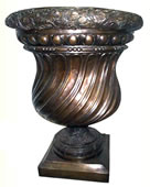 Swirl Design Bronze Planter
