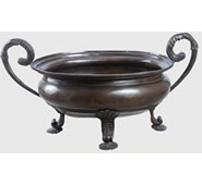 Bronze Oval Bowl with Handles