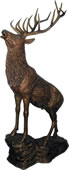 Majestic Elk on Rock Bronze Sculpture