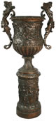 Winged Lady on Column- Bronze Urn