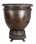 Bronze Footed Urn, Smooth