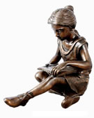 Bronze Reading Girl