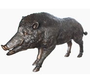 Wild Boar Bronze Sculpture, Extra Large