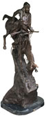 Mountain Man Western Statue- Bronze