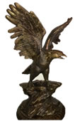 Bronze Eagle On Rock- 41 Inch