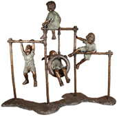 Kids on Monkey Bars - Playground