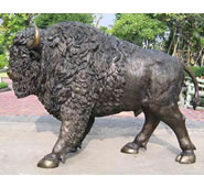 Bronze Bison Sculpture, Extra Large
