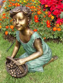 Bronze Girl with Fruit Basket