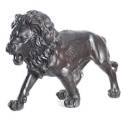 Bronze Walking Lion Statue