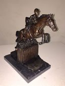 Equestrian Jumping- Bronze Sculpture