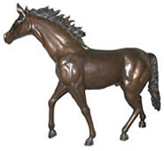 Bronze Standing Horse Sculpture, Extra Large