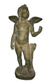Standing Cupid Angel Bronze Statue