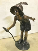 Girl with Hose Bronze Fountain