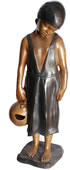 Handmaid with Water Jug, Bronze