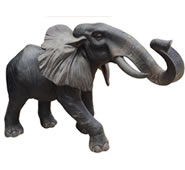 Bronze African Elephant Sculpture
