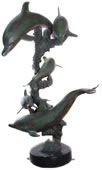 Bronze Dolphin Family Sculpture