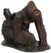 Bronze Gorilla Sculpture