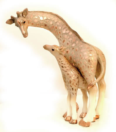 Giraffe and Baby Sculpture