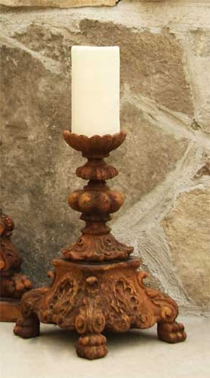 Baroque Candleholder Fiberstone All Products Fs6853