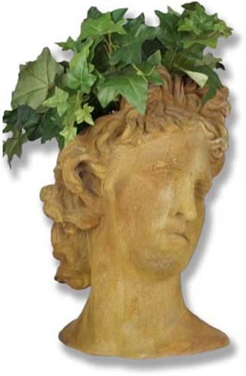 Apollo Bust Planter Fiberstone All Products Fs7381