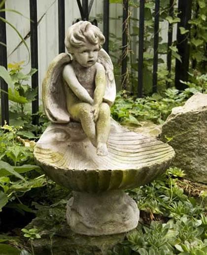 Meditating Bird Bath Fiberstone All Products Fs8264