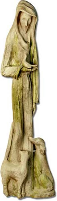 Abstract Saint Francis Statue