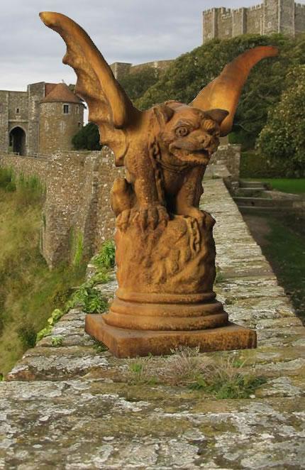 Castle Gate Gargoyle Gothic Statues Fs9560