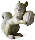 Laughing Garden Squirrel Statue