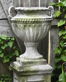 Fluted and Beaded Garden Urn