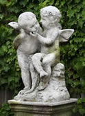 Two Cherubs Playing Statue