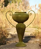 Urn with Iron Handle