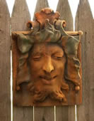 Heckling Green Man Wall Plaque