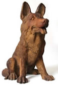 Little German Shepherd Dog Statue