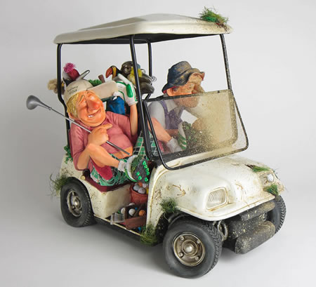 Buggy Buddies-Golf Cart by Guillermo Forchino