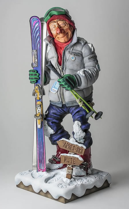 The Skier by Guillermo Forchino