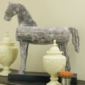 Modern Wooden Horse With Stand
