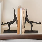 Modern Soccer Player Bookends