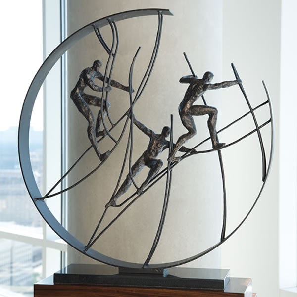 Global Views Metal Sculpture: Climbing To The Top, Global-Views-All-Products, 8.81178