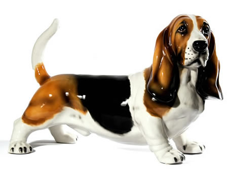 Bassett Hound Sculpture, Large