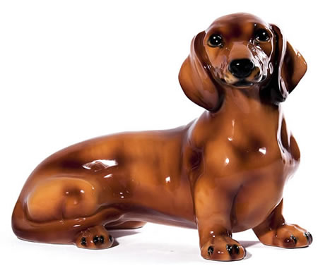 Brown Dachshund Sculpture