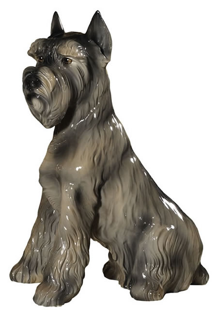 Gray Schnauzer Sculpture