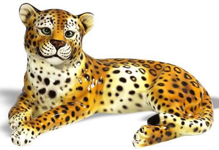 Ceramic Cheetah Sculpture